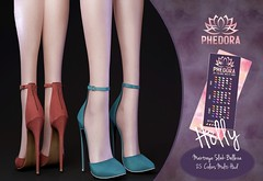 """Phedora. for TRES CHIC - """"Holly"""" ankle strap heels ♥ (Celena Galli ~ phedora.) Tags: sl secondlife second life phedora 3d mesh shoes brand heels platforms shoewear womenswear pumps woman women sexy sassy stylish classy cute chic kinky kawaii fashion event monthly events original content 100mesh new release newrelease meshbody hud multihud maitreya lara belleza isis freya venus slink hourglass physique shopping shopaholic shappaholic straps ankle booties streetwear cuffs ankleboots urban funky heel strappy style strappyheels treschic treschicevent"""