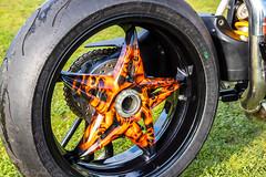FTW Forever Two Wheels-Painted Wheel (Caught On Digital) Tags: custom ftw forevertwowheels honda motorbike motorcycles suffolk