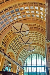 A grand arched glassed-in ceiling in the interior of the Abasto, a market in Buenos Aires, Argentina (albatz) Tags: grand arch glassed ceiling interior abasto market buenosaires argentina