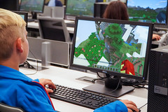October 17, 2019 - Minecrafters (Algonquin Area) Tags: minecraft kids children youth computer lab