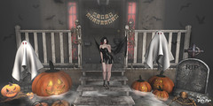 #131 - Trick or Treat? (Yvain Vayandar) Tags: gimmegachaproductions gachaland secondlife sl event play win rare commons halloween furniture decoration pumpkin vampire wings lollipop candy bats ghosts artko nomatch wetcat ~hopscotch~ since1975 moonsha digs cureless