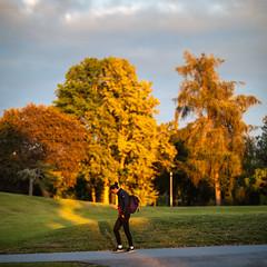 Uppsala, September 26, 2019 (Ulf Bodin) Tags: autumn fålhagen sverige man walking canonrf85mmf12lusm sweden outdoor autumncolours canoneosr uppsala höst uppsalalän gunstaparken