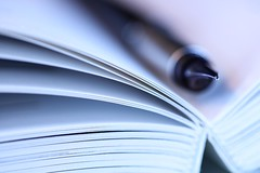 Fountain Pen (haberlea) Tags: pen fountainpen book paper writing stationery macromonday