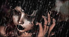 Don't Come An Save Me (shirley Uborstein) Tags: rain drops sl second life girl close up face dark emotion sad tears photography edit photoshop ps world cloudy storm