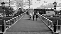 Looking to the left and to the right (rainerpetersen657) Tags: gdansk danzig polska poland polen travel people blackandwhite bw blancoynegro schwarzweiss monochrome sony sonyalpha candid 50mm