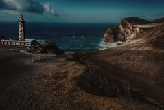 A submerged lighthouse (ramerk_de) Tags: azores azoren lighthouse faial vulcano ashes abandoned place farol