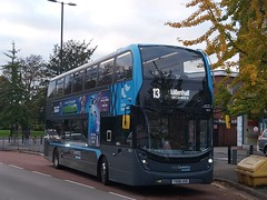 ¿First Time? NX Coventry 6954, YX68USD - 13 (King Flick) Tags: national express nx coventry platinum enviro 400 mmc smart hybird hybrid hibird 13 willenhall first time maybe uk west midlands generic branding 6954 yx68usd alexander dennis adl
