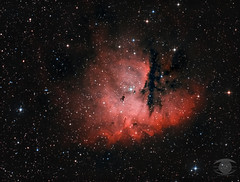 NGC 281 - The Pacman Nebula (Bicolour) (Dark Arts Astrophotography) Tags: astrophotography astronomy asi1600mc cassiopeia ngc281 pacman nebula space sky stars star science cluster kingston kingstonist ygk ontario longexposure night nature natur nightsky ngc n