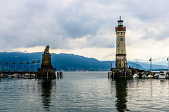 The Lion and The Lighthouse (George Plakides) Tags: lindau harbour germany lion lighthouse boats lake lakeconstance