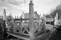 Looks a bit Wooden (Steve Nimmons | Author) Tags: wood outside design geometry geometric decoration decorative sky shadows bw blackandwhite essex cressing garden