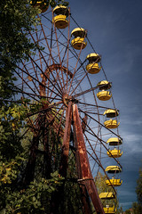 Chernobyl ix (Niaic) Tags: pripyat chernobyl ukraine abandoned decaying decay derelict ruins ruin ruined past historic history architecture buildings soviet amusement park fairground ride ferris wheel round unsafe contaminated disaster
