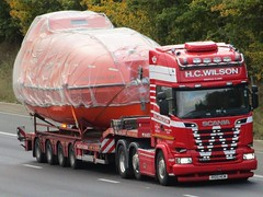 H.C Wilson, Scania R580 (R100HCW) With Azeri Central East Freefall Lifeboat. (Gary Chatterton 8 million Views) Tags: hcwilson scaniatrucks scaniar580 r100hcw azericentraleastfreefalllifeboat motorway trucking wagon lorry haulage logistics flickr canonpowershotsx430 photography