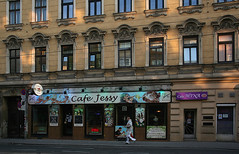 Cafe Jessy & Cafe Mina (Wolfgang Bazer) Tags: cafe jessy mina linzer strase penzing street photograph wien vienna österreich austria