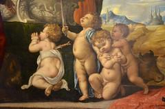 Cherubs At The Feet Of Mary (Joe Shlabotnik) Tags: italia museum eremitani padua italy 2019 painting cherubs april2019 padova afsdxvrzoomnikkor18105mmf3556ged