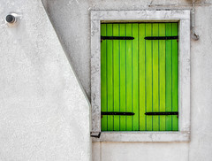 Bright Green Shutter, Burano (derek.dpr) Tags: venice venise venezia italia italy architecture architectural shutters shutter olympus omd em5 on1pics on1 green lime
