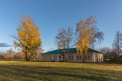 Autumn park. (Oleg.A) Tags: autumn sunny mikhaillermontov russia nature people outdoor rural evening orange light sun blue colorful estate shadow forest sunset tarkhany sky park landscape yellow penzaregion field lermontov lermontovo fall landscapes lermontovsky penzaoblast