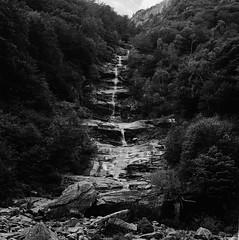 Waterfall (ralfschäfer) Tags: rolleiflex 3f kodak trix xtol val verzasca waterfall lago maggiore water