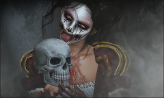*If you can't wake up from the nightmare, maybe you're not asleep....* ❤️ (Ⓐⓝⓖⓔⓛ (Angeleyes Roxley)) Tags: clown creepy poppycock pose fair sl secondlife autumn