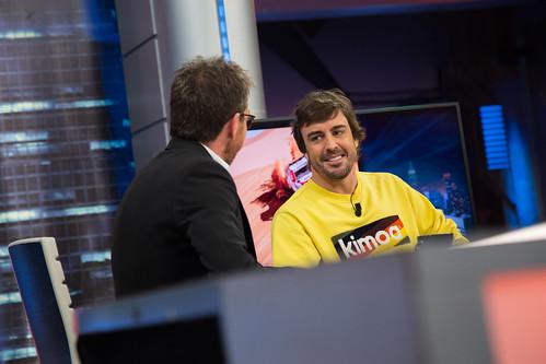Fernando Alonso se ha divertido en El Hormiguero...