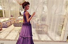 Wherever you are... (kare Karas) Tags: woman lady femme girl girly sweet cute beauty pretty sensual seduce seductive serenity gown elegance jewelry hair virtual avatar secondlife sl blogger spam spammer fashion casual outdoors calm soul colors huds mesh jumo