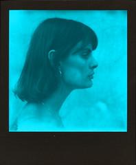 Black and Blue (Ray Liu Photography) Tags: mono duochrome polaroidweek roidweek polaroid instantfilm instantphotography film sideprofile