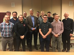 Dr. Tim Hogan spoke with the seminarians about chastity, healthy integration and healthy relationships on October 19, 2019.