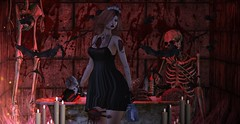 ♚ #793 ♚ (Caity Saint) Tags: decoy empowered ro reveobscura thearcade gacha blood halloween harajuku event sl ak akeruka bento backdrop secondlife pixels maitreya av avatar doll