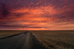 DSC08458 (MorningStarrPhotography505) Tags: easternwashington washington wa sonya6000 a6000 roads ruralroads plains sunset clouds goldenhour twilighthour