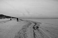 Jermoula Beach (pbr42) Tags: latvia jermoula blackandwhite bw water sea baltic coast h2o sand beach people outdoor