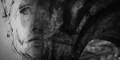 one troubled soul (gotan-da) Tags: texture artwork digital compositing photoart photoshopartistry blackwhite schwarzweiss noiretblanc blackandwhite bw monochrome