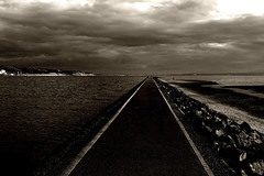 Leading lines, West Kirby (ronramstew) Tags: westkirby wirral merseyside autum 2019 marina sepia