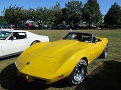 Little Yellow Corvette (smaginnis11565) Tags: chevrolet chevroletcorvette mark3corvette convertible carshow haverstraw newyork rocklandcounty 2019