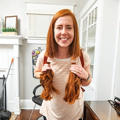 dere_cut (Haarfert) Tags: long short longhair redhead redhair rapunzel longtoshort ponytail cuthair haircut hairstyles makeover