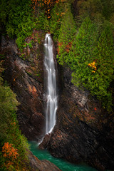 Baker Lake Waterfall (EdBob) Tags: waterfall water autumn fall falls nature outdoors whatcomcounty baker lake dam flow flowing silky motion mtbakersnoqualmienationalforest forest fir maple trees environment clear clean washington washingtonstate westernwashington pacificnorthwest upperbakerlakedam rocks landscape edmundlowephotography edmundlowe edlowe america usa allmyphotographsare©copyrightedandallrightsreservednoneofthesephotosmaybereproducedandorusedinanyformofpublicationprintortheinternetwithoutmywrittenpermission rainforest