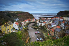 Staithes on an overcast day!  North Yorkshire (Nina_Ali) Tags: staithes yorkshire landscape england houses boats yorkshirecoastline