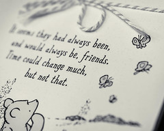 Winnie the Pooh Wisdom (risaclics) Tags: crazy tuesdays books libros 60mmmacro closeup nikond610d october2019 cards monochrome notes paper crazytuesdays