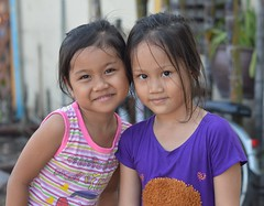 cute friends (the foreign photographer - ฝรั่งถ่) Tags: cute friends girls children khlong lard phrao portraits bangkhen bangkok thailand nikon d3200