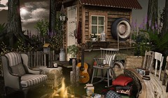 The best thing about memories is making them (Trixie Lanley) Tags: thor kustom9 gacha secondlife sl tarte heart landscape forest trees truck campfire zerkalo mithral anc