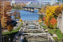 Rideau Canal Locks in Fall (Dan Dewan) Tags: autumn dandewan ottawa ontario sunday canonef70200mm14lisusm rideaucanallocks october locks canoneos7dmarkii canada canon 2019 fall colour