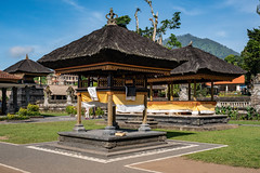 Gazebos, buildings and roof architecture in a balinese hindu temple (stewart.watsonnz) Tags: building house architecture temple tree roof garden home shrine gazebo outdoors pagoda plant resort villa noperson property outdoor travel grass monastery housing daylight table realestate mountain lawn worship sitting person leisure front rural marquee estate old countryside wooden tourism area shelter religion vacation street nature pavilion green traditional landscape