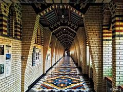 ... (Jean S..) Tags: monastery monk corridor windows brick colors church