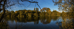 Autumnal (CraDorPhoto) Tags: canon6d landscape trees lake water reflections sky blue nature outdoors outside cambridgehsire uk panorama
