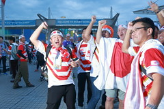 Let's Go, Japan (Rugby World Cup) (seiji2012) Tags: japan chofu rwc rugby stadium ラグビー ラグビーワールドカップ 東京スタジアム 応援 日の丸 調布