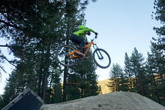 Max jumping at Bijou Bike Park (benjaminfish) Tags: bijou bike park south lake tahoe california october 2019 kid jump dirt