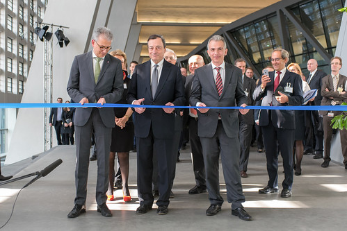 Inauguration of the ECB's main building