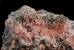 Rhodochrosite and Sphalerite (Ron Wolf) Tags: earthscience eurekadistrict geology mineralogy rwpc rhodochrosite silverton sphalerite crystal hexagonal isometric mineral nature ore colorado macro
