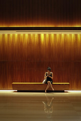 lobby, Singapore (Plan R) Tags: hotel lobby singapore woman leica m 240 noctilux 50mm