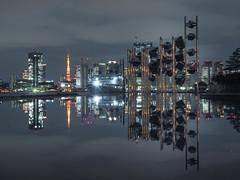 Golden and orange Tokyo Bay (sapphire_rouge) Tags: tokyo tokyobay harumi passengership passenger passengershipterminal 晴海 晴海客船ターミナル silvermuse tokyotower