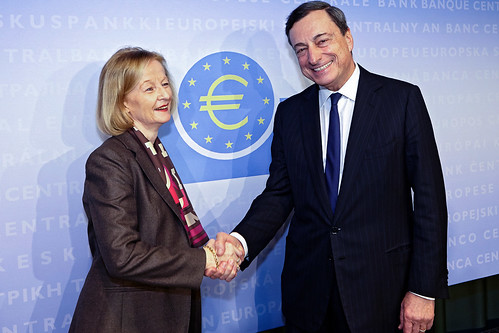 Mario Draghi and Danièle Nouy