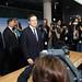 Mario Draghi at his first press conference at the ECB